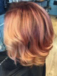 rose gold hair, hårfärg, trendigt hår, bronze hair