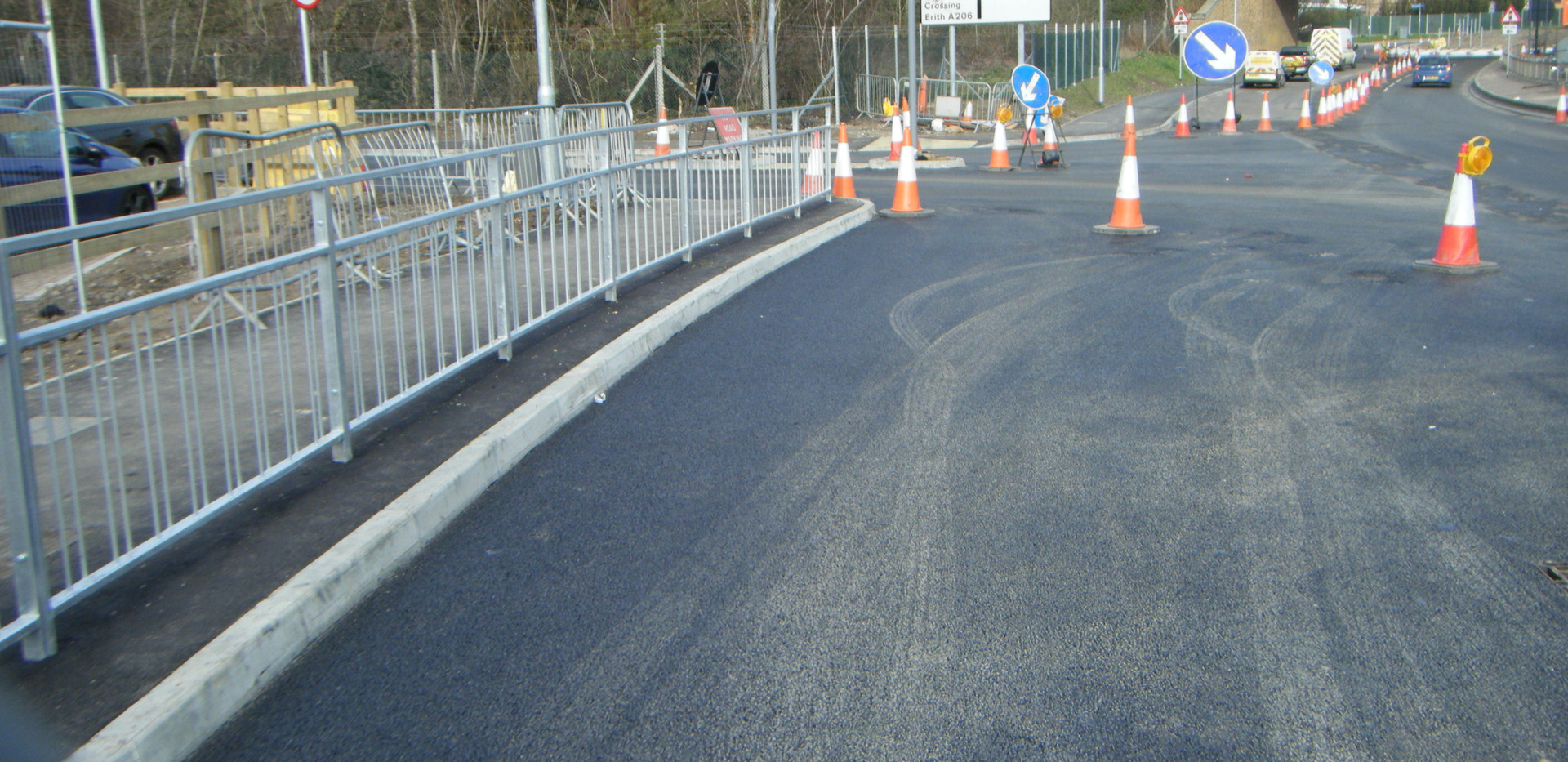 PETTIT Kerbing and new road