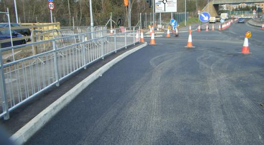 PETTIT Kerbing and new road