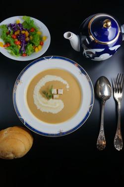 鮭のクリームスープ