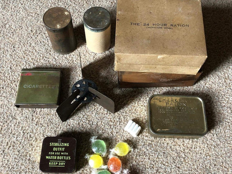 British Personal Hexamine Stove, Tommy Cooker, Fuel and 24 Hour / Assault Rations