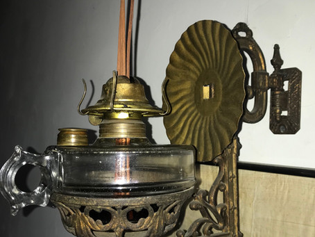 Scent Diffusers - Re-using Antique Oil Lamps