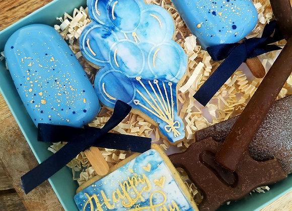 Cobalt Birthday Treat Box