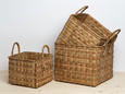 Square baskets with handles