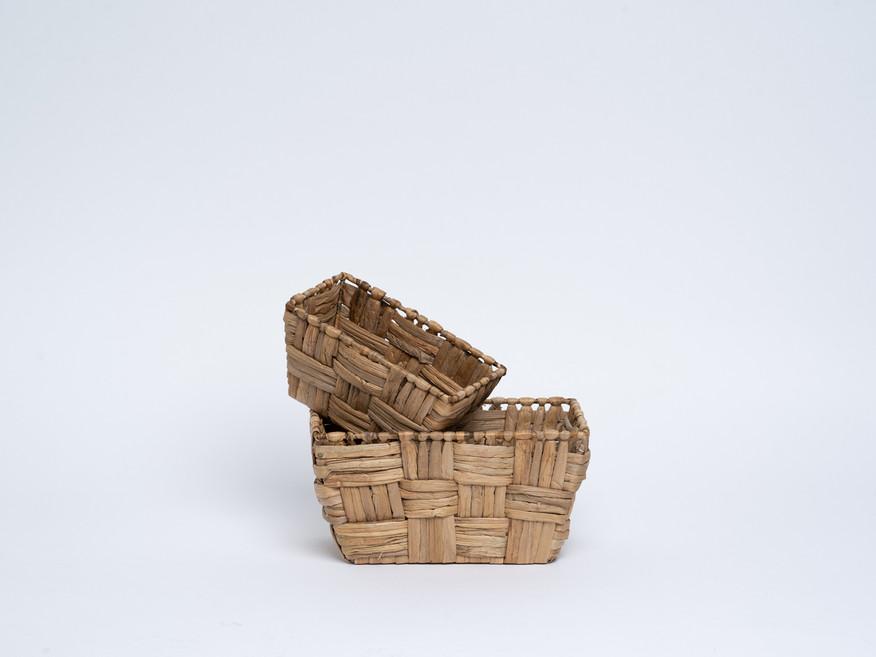 set of two rectangular baskets