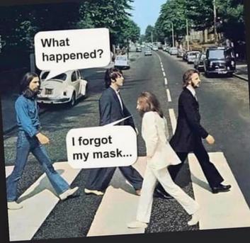 I forgot my mask