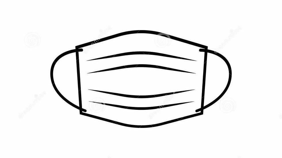 Маска одноразовая 3-х слойная