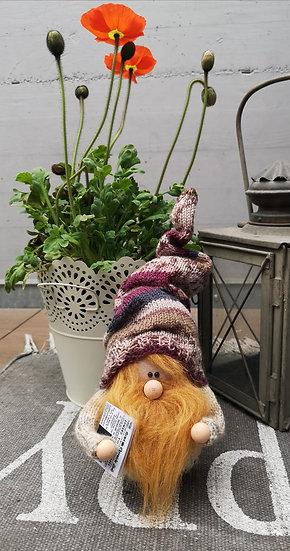 Sockenwichtel Samu mit rotem Bart & Zeitung Höhe 29 cm Durchmesser 7 cm