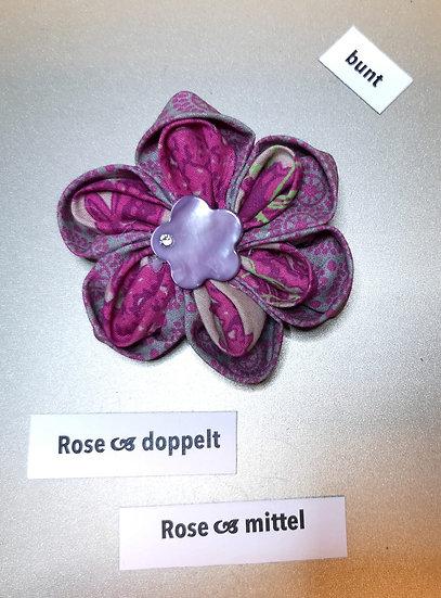 Brosche Rose Doppelt Pink