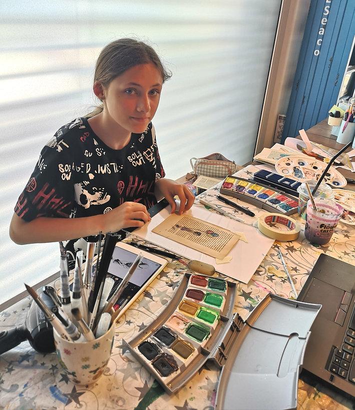 Aquarell Karten Fay Design by © Skullitas.com