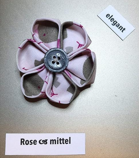 Brosche Rose Rosa Mittel