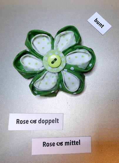 Brosche Rose Doppel Grün
