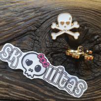 Dies und Das Metallknopf gold-weiss by © Skullitas.com