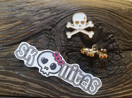 Dies und Das Metallknopf gold-weiss by © Skullitas.com dem Online Shop