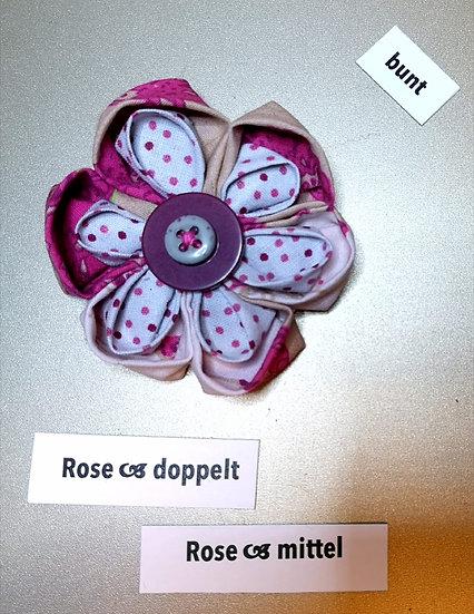 Brosche Rose Doppelt Pink 2