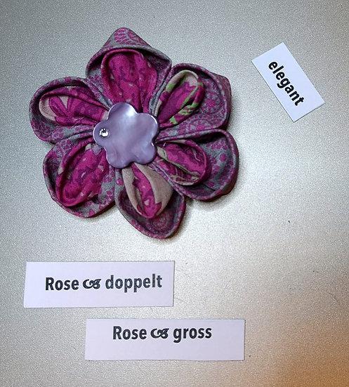 Brosche Rose Doppelt Pink 3