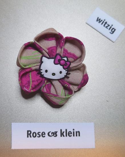 Brosche Rose Rot Witzig Klein
