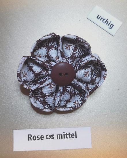 Brosche Rose Rosa Mittel 2