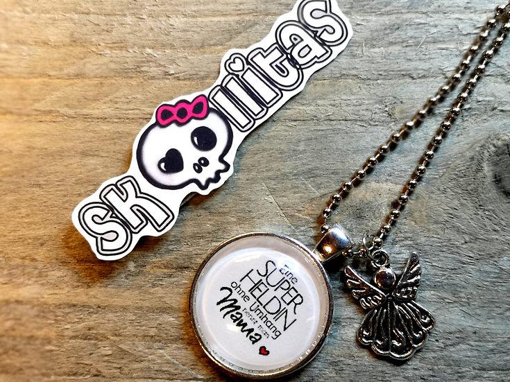 Skullitas Edelstahl Halskette mit Anhänger