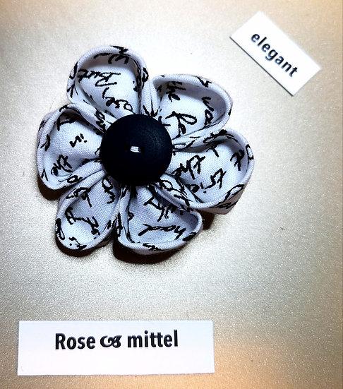 Brosche Rose Weiss Mittel
