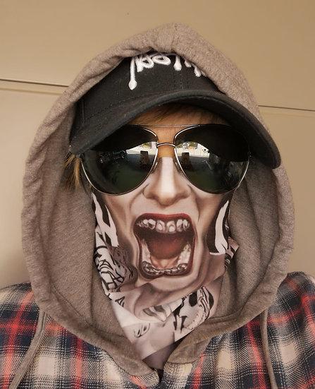 Skullitas Rollschal ( Gesicht à la Marilyn Manson ) * NEU *