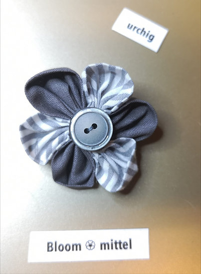 Broschen Bloom Mittel Grau