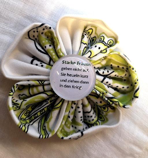 Broschen mit coolen Sprüchen Grün-Weiss