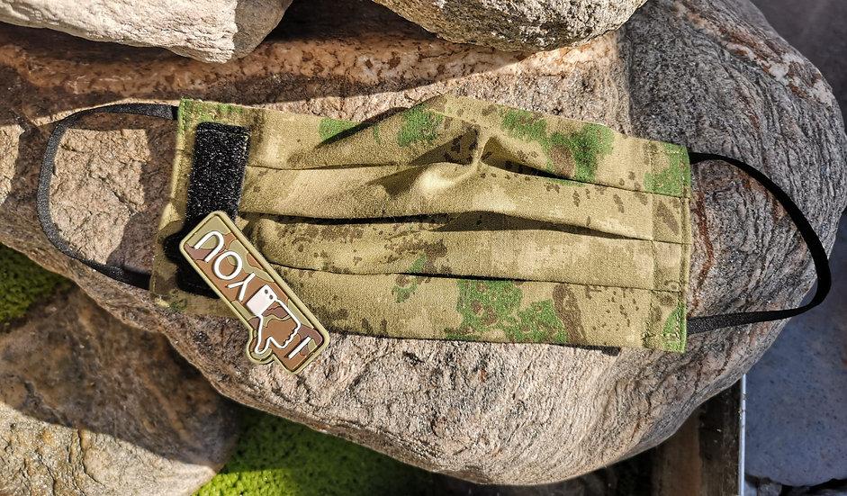 Skullitas Herren Jagd - Camouflage - Tarn - Mundschutz * mit Klettpatch *