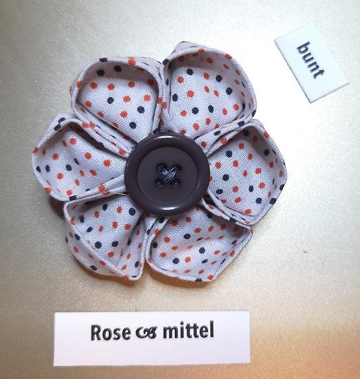 Brosche Rose Bunt Mittel