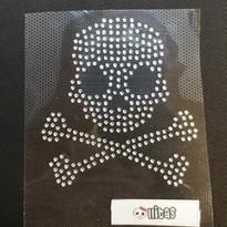 Strass-Aufbügelbild Skull mit Bones by Skullitas.com