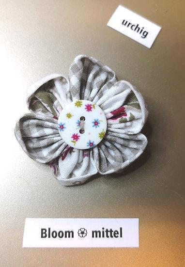 Broschen Bloom Mittel Grau-Weiss