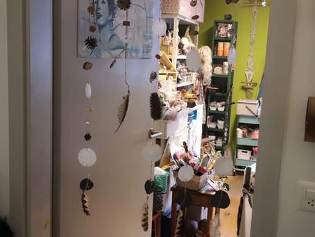 Atelier Feenhöhle, hier entstehen Steff's Kreationen -Ambiente ist einfach alles!