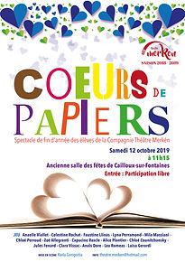 Afiche coeurs de papiers