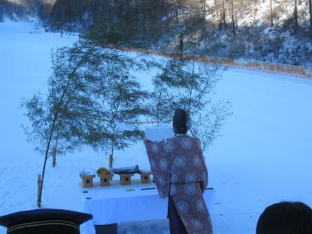 武石番所ヶ原スキー場の安全祈願祭が執り行われました