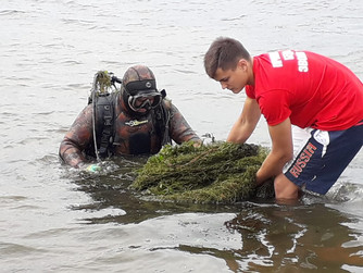Обследование и чистка дна р.Волга
