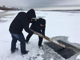 ВОСВОД Волгоградской области готовит место для проведения показательных учений на льду
