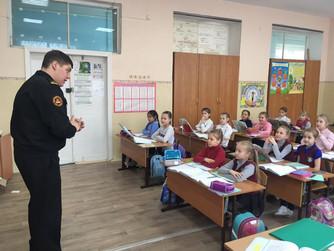 Профилактическая беседа в начальных классах школы №13 г. Волжский