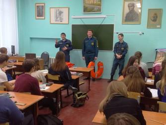 Профилактическая беседа в МОУ СШ №1 г. Волжского с 9 классом