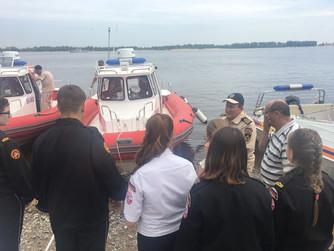 Инспеция водной спасательной техники вместе с ЭКИПАЖАМИ ЮМС ВОСВОД