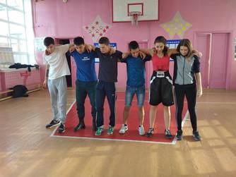Соревнования по волейболу со студентами-практикантами и Юными Матросами-Спасателями