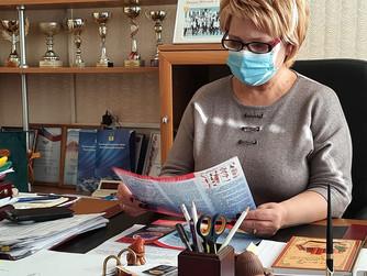 Вручение информационного материала по профилактике безопасности на воде МОУ СШ №12 г.Волжский