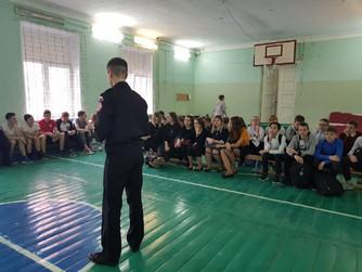 Профилактичекое занятие в МОУ Гимназия №13 г.Волгограда