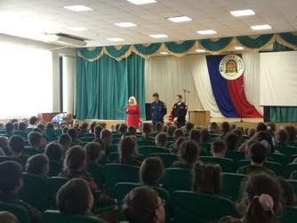 Профилактическая беседа в начальных классах Кадетской школы г. Волжский