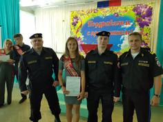Вручение аттестатов выпускникам ПЕРВОГО ЭКИПАЖА ЮМС ВОСВОД
