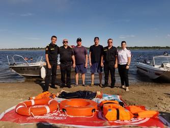 Проект «180 секунд на спасение».  Практические, показательные занятия на берегу Волги, на пляже в ра
