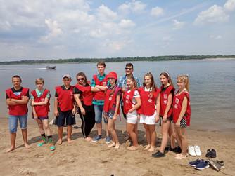 Учения на пляже Красноармейского района г.Волгограда