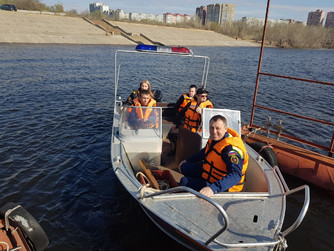 Профилактический рейд на р.Волга в Тракторозаводском районе г.Волгограда