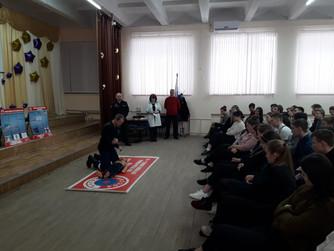 Профилактическое занятие в МОУ СШ №48 г.Волгограда