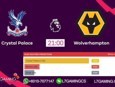 22 SEPTEMBER 2019 English Premier League : Crystal vs Wolves