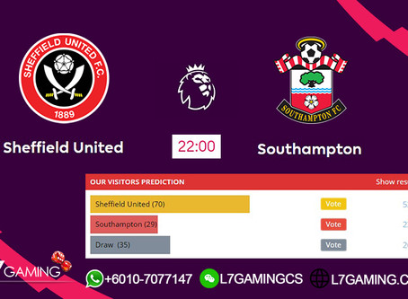 14 SEPTEMBER 2019 English Premier League : Sheffield vs Southampton